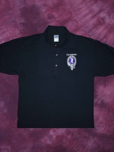 Clan Inebriated Black Golf Shirt