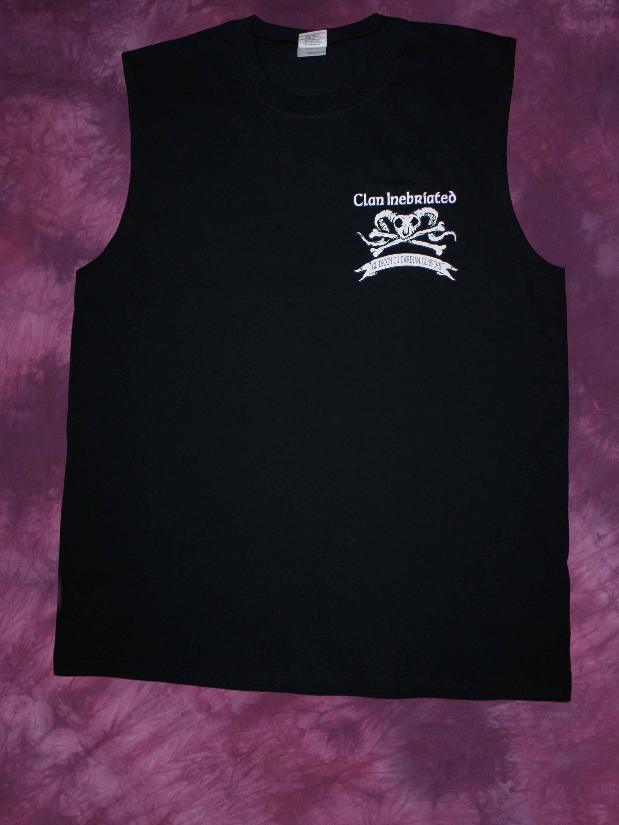 Clan Inebriated Skull and Bones Men's Muscle Shirt