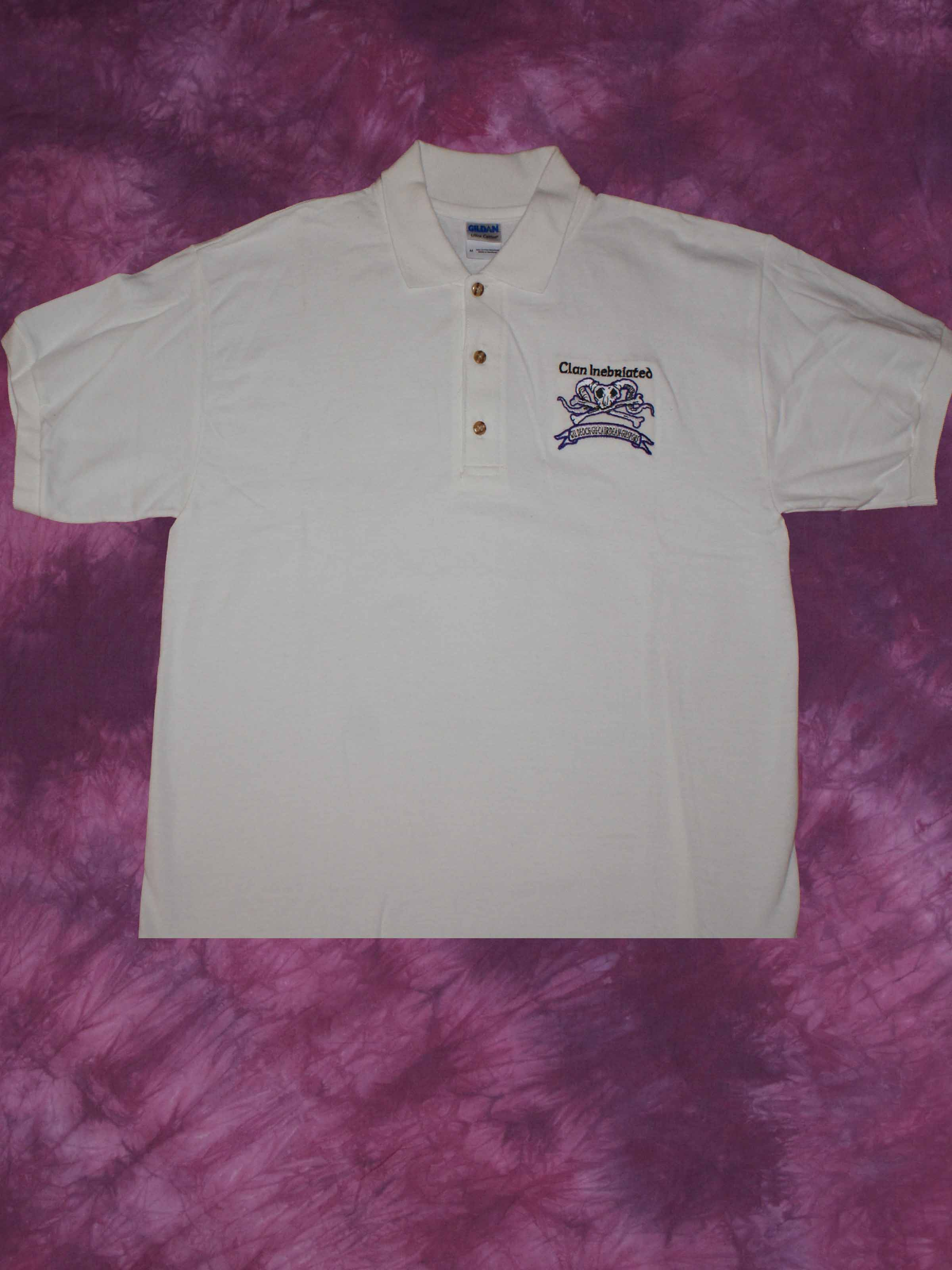 Clan Inebriated White Golf Shirt